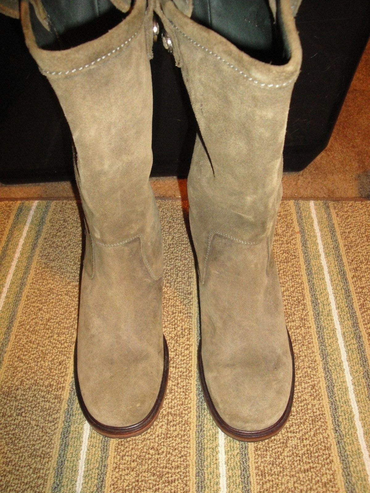 COLE HAAN WOMENS SUEDE GREEN BOOTS SHOE SIZE 6 B