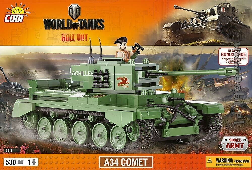 COBI   WORLD OF TANKS - A34 COMET (530 parts) ROLL OUT
