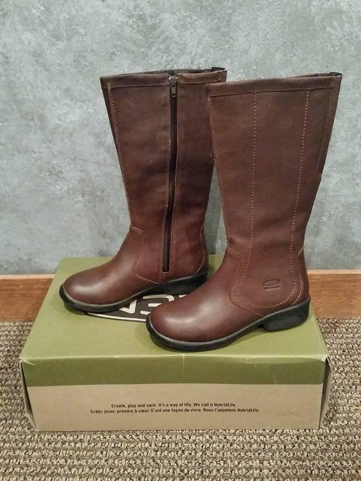 NIB Keen 1013769 1013769 1013769 Tyretread Zip Waterproof Knee High Boot Brown Leather Size 7 fba6a7