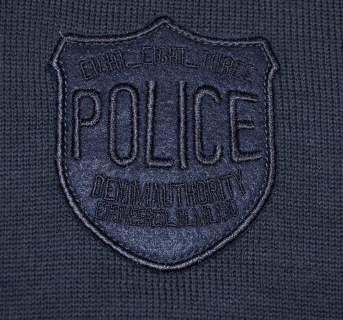 T Lola à à en col courtes Ls Bleu manches shirt laine Ls Police 883 V MpGqSUzV