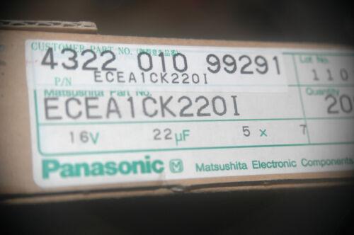 PANASONIC ECEACK220I 22UF 16V 5x7MM Capacitor New Lot Quantity-25