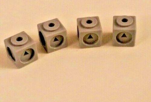 MathsLink Cubes New Pack of 50 light grey  2cmx2cmx2cm To make Numberblocks