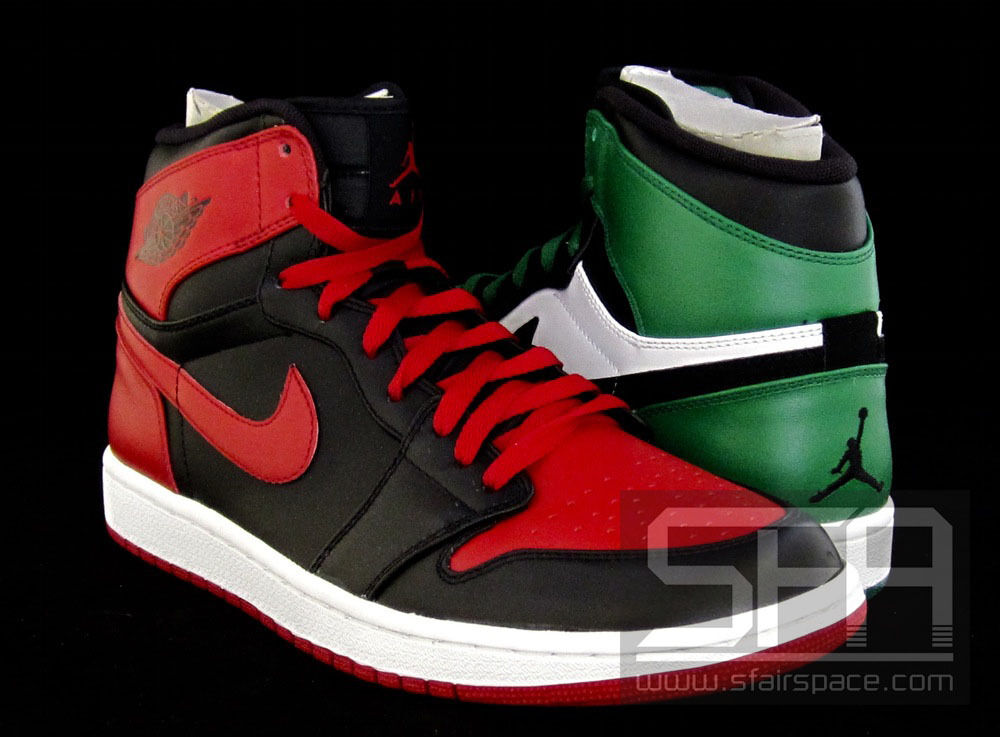 2009 - nike air jordan dmp momenti 1 retr alto momenti dmp determinanti le blck bianco rosso verde 64eadd