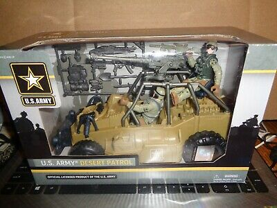 U.S.ARMY DESERT PATROL WITH 2 SOLDIERS INCLUDED NEW IN UNOPENED BOX