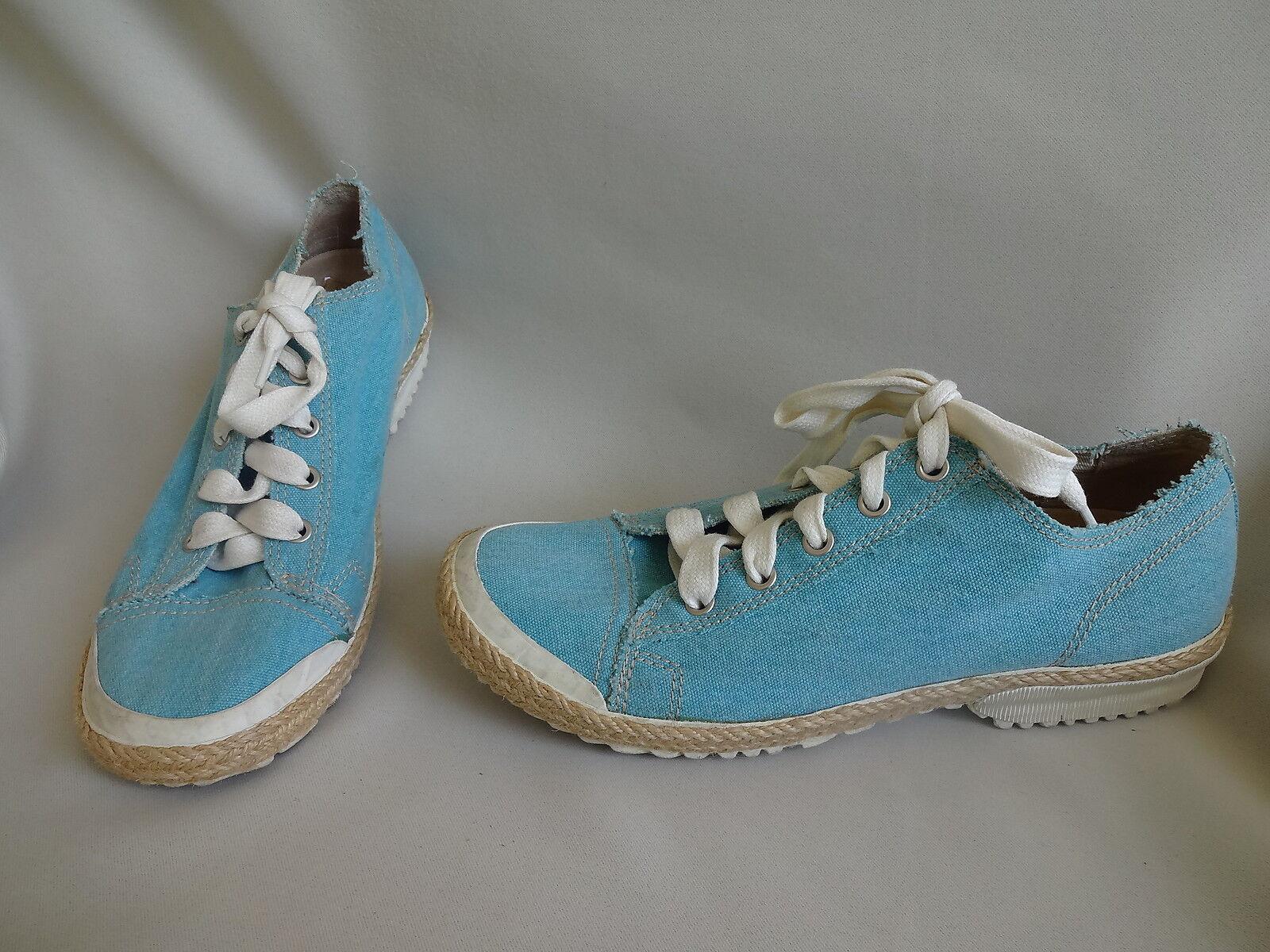 PALLADIUM CHAUSSURE FEMME FILLE TISSUS TOILE BLEU BASKET DERBIES  pt 39 chaussures