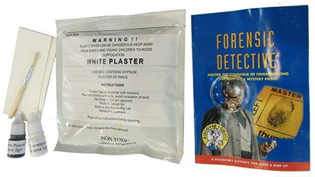 New Discover Science Forensic Detective Educational Science Kit Fingerprint For Sale Online