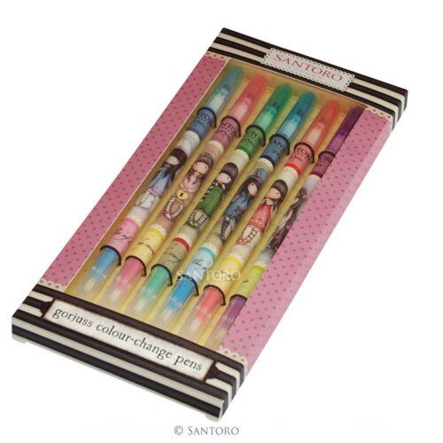 GORJUSS SANTORO 6 pennarelli cambia colore in scatola confezione regalo