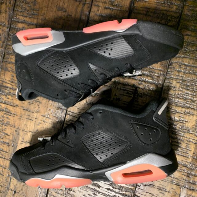 3eef6e18bd7d Nike Air Jordan 6 Retro Low GG VI Black Sunblush Women Kids Aj6 768878-022  7 Y