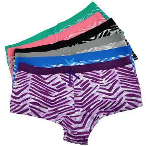4ffa3c1eaf67c6 Image is loading Women-Boxers-Shorts-Cotton-Striped-Ladies-Knickers- Underwear-