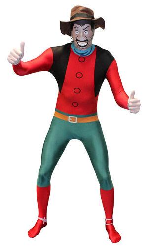 Desperate Dan Morph /& Chas  genuine adult Adult Morphsuit fancy dress costume