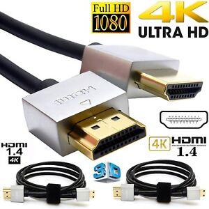 Placcato-oro-HDMI-Ultra-Sottile-1-M-V1-4-19Pin-M