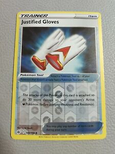 Justified Gloves Reverse Holo   NM   SWSH Chilling Reign 143/198   Pokemon