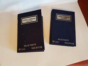 Dolce & Gabbana D&G Pour Homme 2 x 1,5 ml EDT Phiolen / Proben (Vintage)