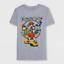 NEW Boys/' Kingdom Hearts Short Sleeve T-Shirt Heather Gray Size L