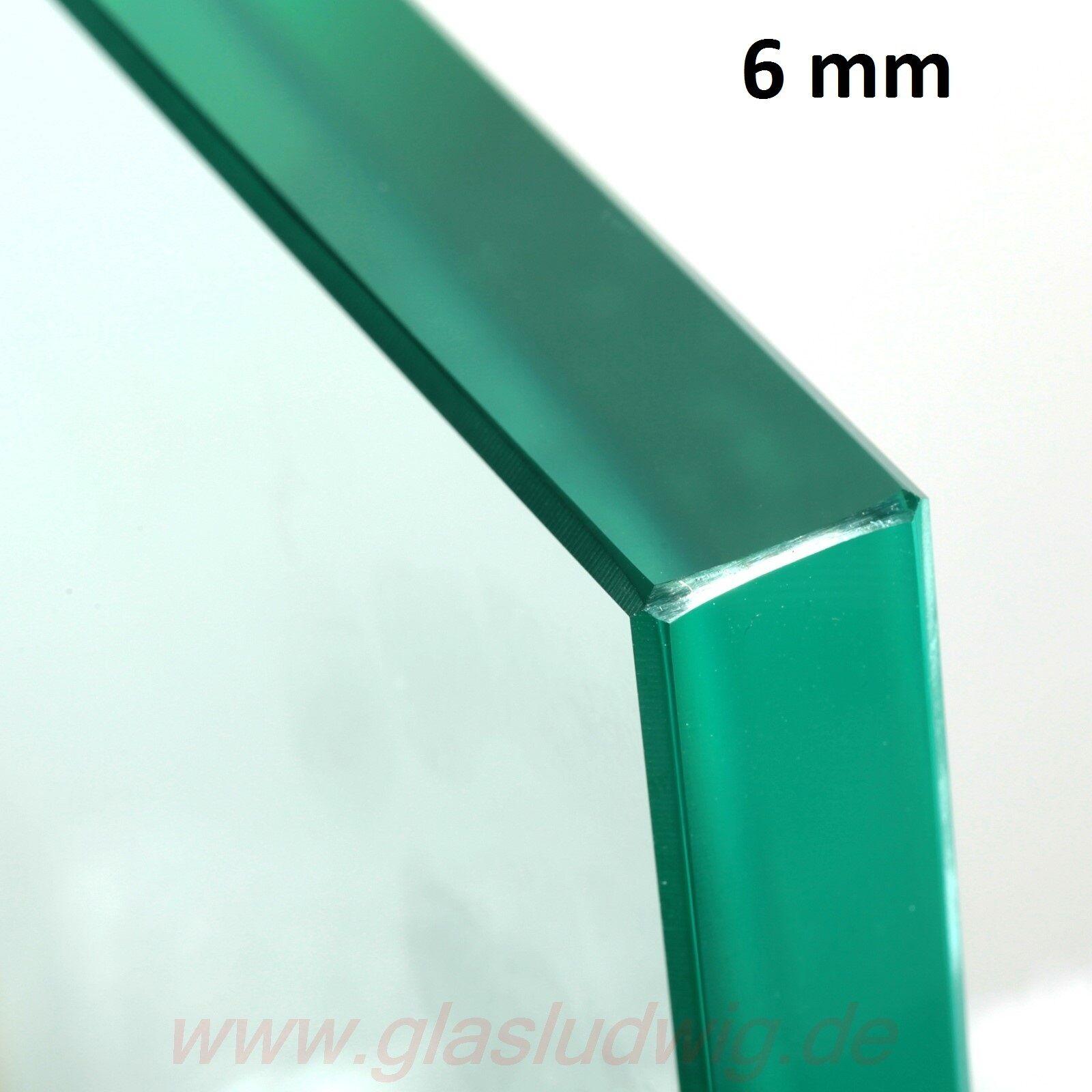 GLASPLATTE  6 mm ESG ESG ESG poliert Glas Einlegeboden NACH MAß GEFERTIGT ( /m²) 79e8e4