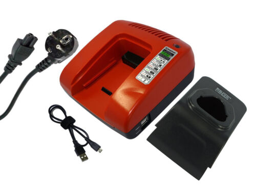1 Jahr Garantie 7.2-18V Ladegerät für AEG L1215R BS 12C LL1230 Rot