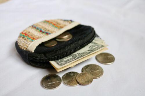 Circular Hemp Coin Purse