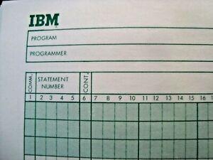 VINTAGE-IBM-FORTRAN-CODING-FORM-COMPUTER-PAPER-PROGRAMMER-SHEET-MID-1970-039-s