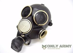 Genuine-Russian-Military-Black-Gas-Mask-Rubber-Respirator-USSR-Soviet-Army-NEW