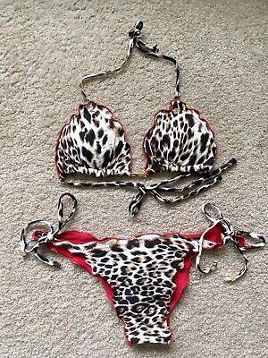 animal print Leopard printed swimwear Cheetah print thing bikini bottom for men mens string swim trunks thongs panther bathing suit