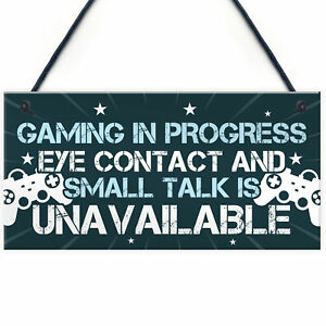Funny Gaming Door Sign Novelty Gamer Gifts Accessories Birthday Gift Brother Son