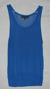 Forever-New-Women-039-s-blue-knit-tank-top-SIZE-16