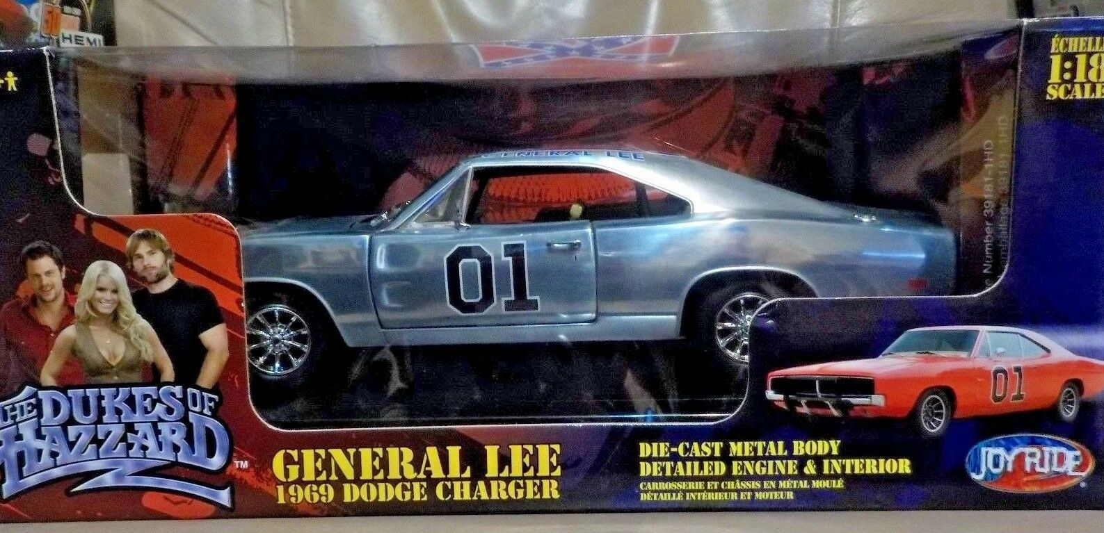 1 18 DIECAST JOYRIDE RC2 GENERAL LEE  CHASE CAR  THE DUKES of HAZZARD COUNTY