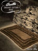 Bucilla 148 C.1947 - Crochet Cotton Rugs, Vintage Patterns For Home Decor