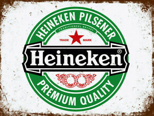 Blechschild HEINEKEN PILSENER Bier Beer Ale 30 x 20 cm Metallschild Vintage NEU