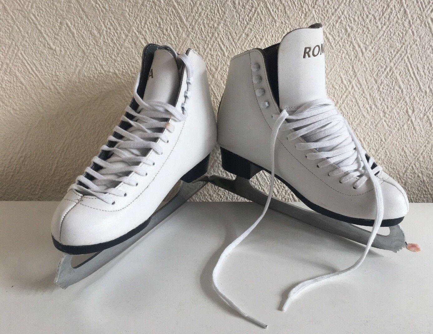 Ice Skating Boots - White - Roma - UK Size 6 - Hardly worn