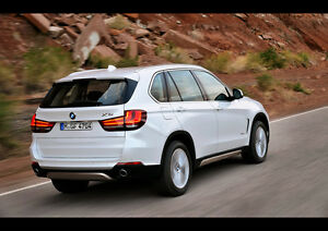 2014-BMW-X5-REAR-NEW-A2-CANVAS-GICLEE-ART-PRINT-POSTER-FRAMED