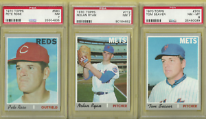 1970 Topps Baseball complete set (720) NM  and NM - MT PSA SGC 7 & 8 MORE SETS!!