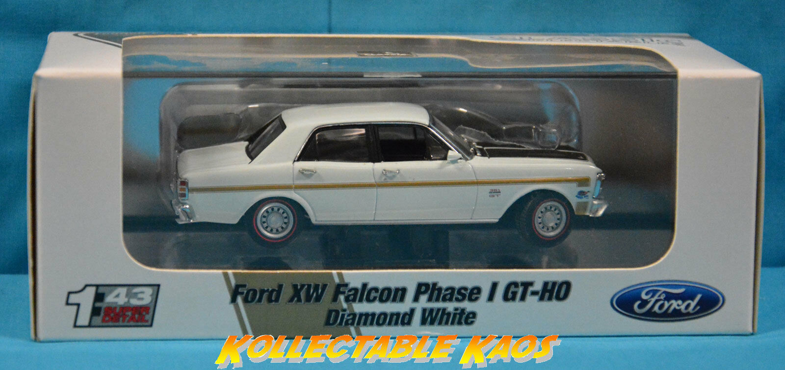 1 43 Classics - Ford Falcon XW Phase I GT-HO Diamond blanc