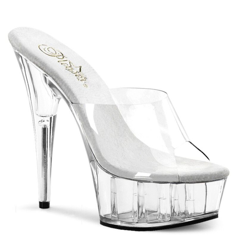 Pleaser Delight-601 Schuhes Stiletto High Heels Mules Slip On Peep Toes Sexy Party