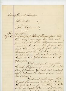 1873-Handwritten-People-New-York-NY-Court-VS-John-Fitzsimmons-Drunk-Gambling