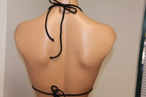 New VOLCOM Swimsuit Bikini Bra top Size M Black Crochet Slide Bra