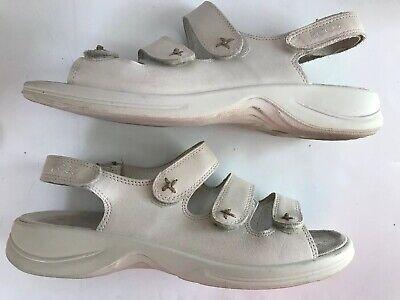 ECCO Leather Sandals Beige Adjustable Size 42 = 11 US Ecco Light Arch Comfort | eBay