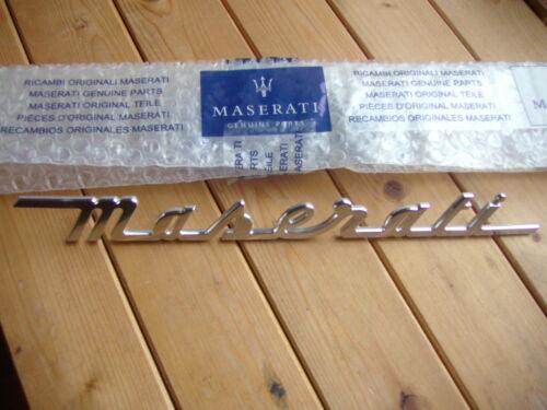 Maserati Lettrage Emblème Original 4200 Coupe Spyder arr neuf métal