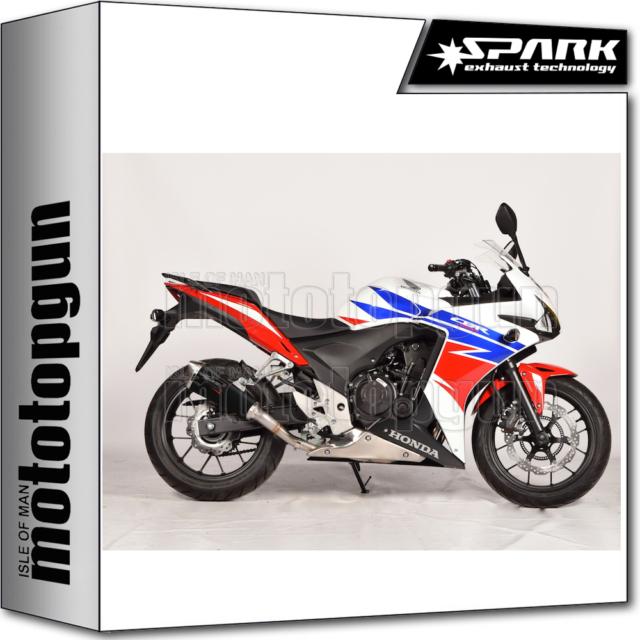SPARK ESCAPE KONIX RACING ACERO NEGRO HONDA CB 500 F 2013 13 2014 14 2015 15