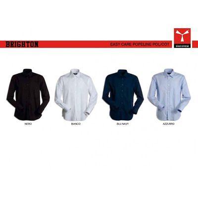 Payper Brighton Camicia Da Uomo Sfiancata Manica Lunga Da Lavoro In Cotone Tinta