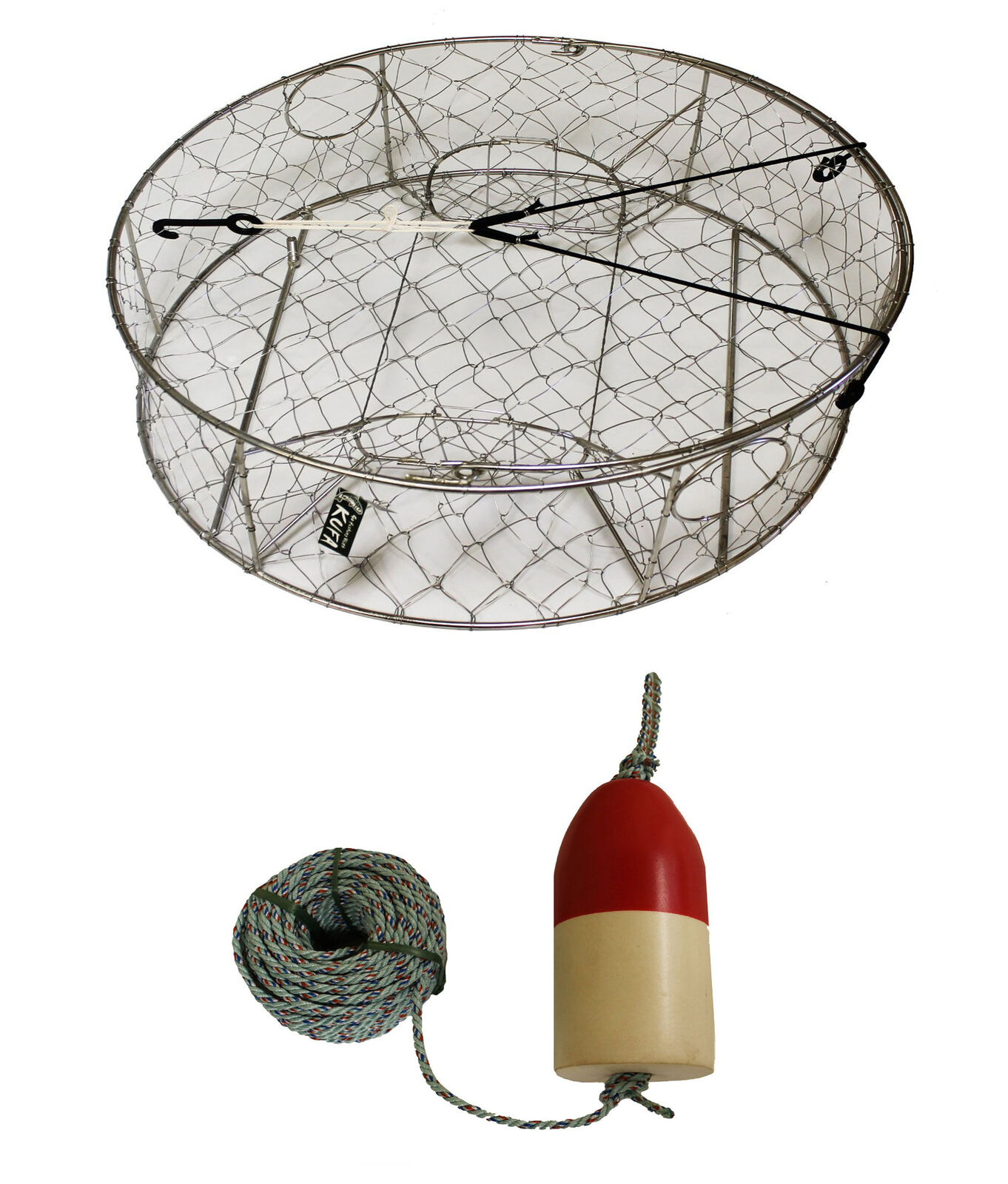 KUFA Stainless Steel Crab Trap with Zinc Anode & Accessories (CT100+FQL103+ZIN1)