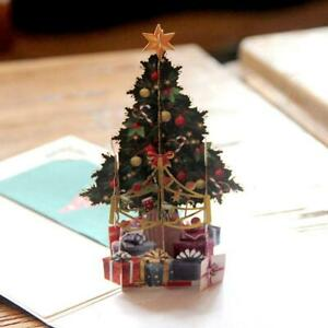 3D-Card-Christmas-Tree-Greeting-Baby-Gift-Happy-Holiday-Cards-New-Chrismas-L1P0