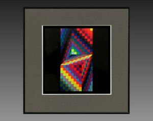 VICTOR-VASARELY-1906-1997-ANCIENNE-SERIGRAPHIE-034-CYNETIQUE-034-VERS-1970-75-17