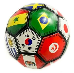 Soccer-Ball-FIFA-World-Cup-International-Country-Flags-Size-5-USA-Seller