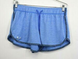 Under-Armour-Womens-Blue-Elastic-amp-Drawstring-Waist-Athletic-Running-Shorts-Sz-M