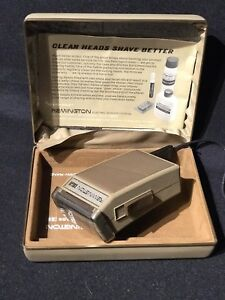 Vintage-Remington24-Lektro-Blade-Electric-Men-039-s-Shaver-Case-Charger