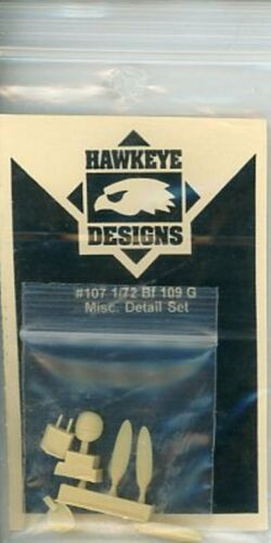 Resin Detail Set #107 Hawkeye Designs 1:72 Bf-109 G Misc