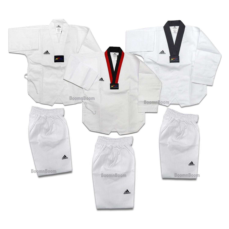 Adidas Taekwondo Uniform ADI-STAR Taekwondo Dobok Set All Sizes-WTF Approved