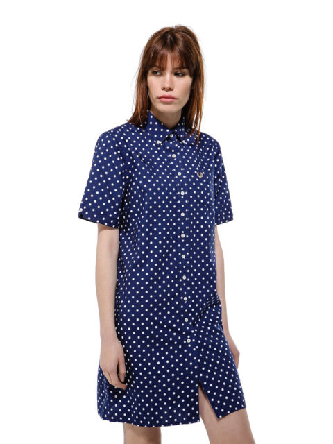 Fred Perry Women Polka Dot Shirt Dress Sizes: UK6/UK8/UK10