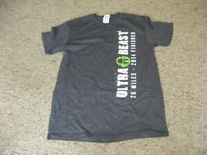 Details about 2014 14 SPARTAN RACE ULTRA BEAST 26 MILES FINISHER T SHIRT SMALL ADULT NEW
